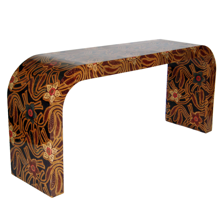 KARL SPRINGER CONSOLE COVERED IN BATIK